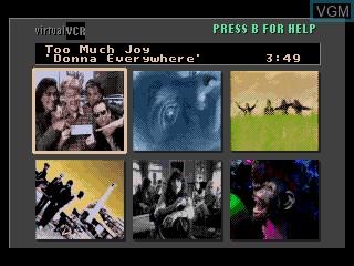 Title screen of the game The Colors of Modern Rock on Sega Mega CD