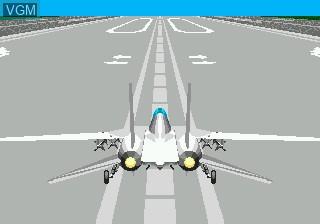 Menu screen of the game After Burner III on Sega Mega CD