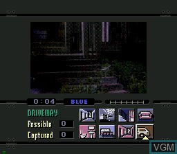Menu screen of the game Night Trap on Sega Mega CD