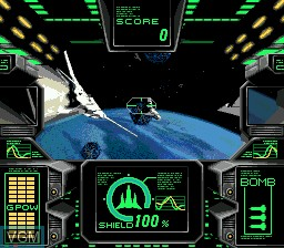 Menu screen of the game AX-101 on Sega Mega CD