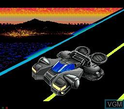 Menu screen of the game Night Striker on Sega Mega CD