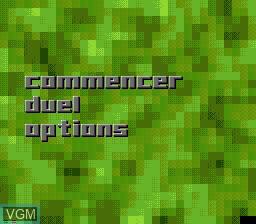 Menu screen of the game Battle Frenzy on Sega Mega CD