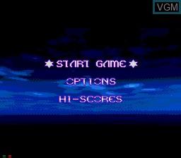 Menu screen of the game Novastorm on Sega Mega CD