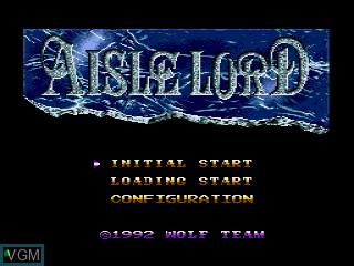 Menu screen of the game Aisle Lord on Sega Mega CD