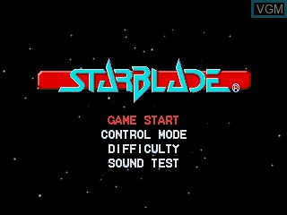 Menu screen of the game Starblade on Sega Mega CD