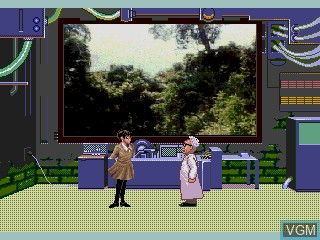 Menu screen of the game Quiz Scramble Special on Sega Mega CD
