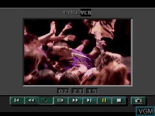 Menu screen of the game The Colors of Modern Rock on Sega Mega CD