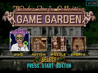 Menu screen of the game WonderMega Collection on Sega Mega CD