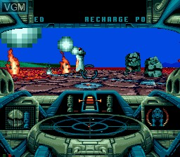 In-game screen of the game BattleCorps on Sega Mega CD