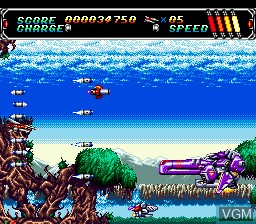 In-game screen of the game Android Assault - Revenge of Bari-Arm on Sega Mega CD