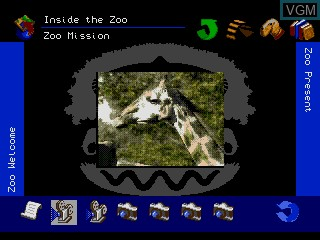 In-game screen of the game The Animals! on Sega Mega CD