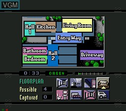 In-game screen of the game Night Trap on Sega Mega CD