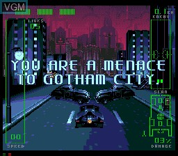 In-game screen of the game Adventures of Batman and Robin, The on Sega Mega CD