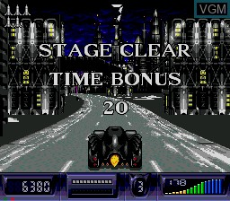 In-game screen of the game Batman Returns on Sega Mega CD