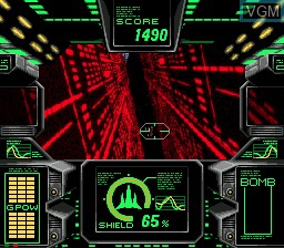 In-game screen of the game AX-101 on Sega Mega CD
