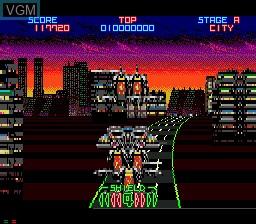 In-game screen of the game Night Striker on Sega Mega CD