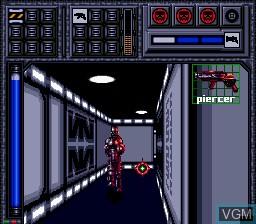 In-game screen of the game Battle Frenzy on Sega Mega CD