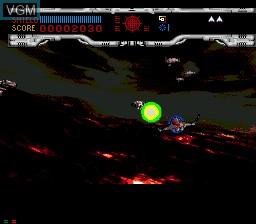 In-game screen of the game Novastorm on Sega Mega CD
