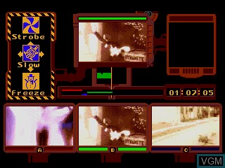 In-game screen of the game Power Factory Featuring C+C Music Factory on Sega Mega CD