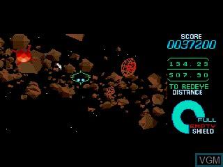 In-game screen of the game Starblade on Sega Mega CD