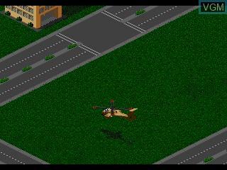 In-game screen of the game Super Strike Trilogy on Sega Mega CD