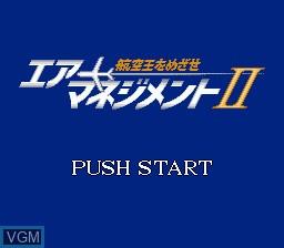 Title screen of the game Air Management II - Kouku Ou wo Mezase on Sega Megadrive