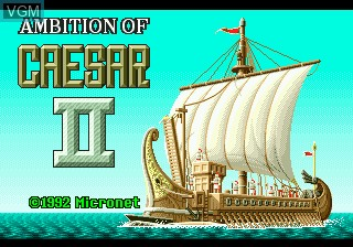 Title screen of the game Caesar no Yabo II on Sega Megadrive