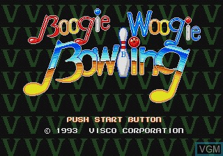 Title screen of the game Boogie Woogie Bowling on Sega Megadrive