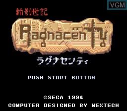 Title screen of the game Ragnacenty on Sega Megadrive