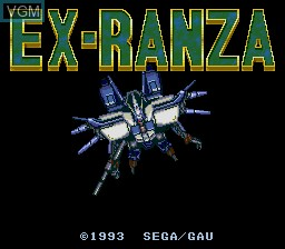 Title screen of the game Ex-Ranza on Sega Megadrive