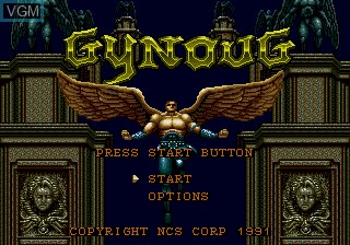 Title screen of the game Gynoug on Sega Megadrive