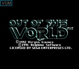 Title screen of the game Out of this World on Sega Megadrive