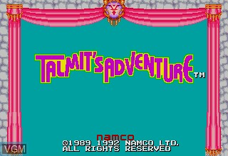 Title screen of the game Talmit's Adventure on Sega Megadrive