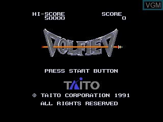 Title screen of the game Volfied on Sega Megadrive