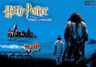 Title screen of the game Harry Potter on Sega Megadrive