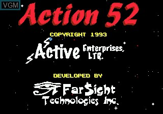Title screen of the game Action 52 on Sega Megadrive