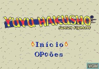 Title screen of the game Yuu Yuu Hakusho - Sunset Fighters on Sega Megadrive