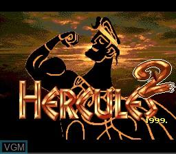 Title screen of the game Hercules 2 on Sega Megadrive