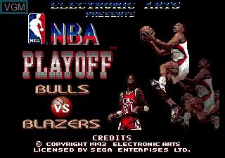 Title screen of the game NBA Playoff - Bulls vs Blazers on Sega Megadrive