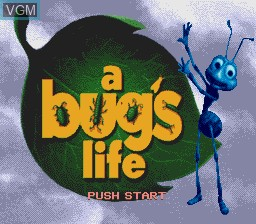 Title screen of the game Bug's Life, A on Sega Megadrive
