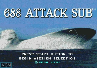 Title screen of the game 688 Attack Sub on Sega Megadrive