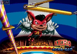Title screen of the game Aero the Acro-Bat on Sega Megadrive