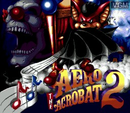 Title screen of the game Aero the Acro-Bat 2 on Sega Megadrive