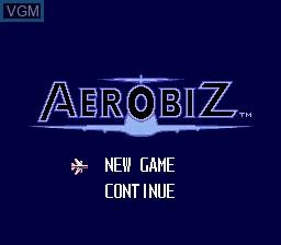 Title screen of the game Aerobiz on Sega Megadrive