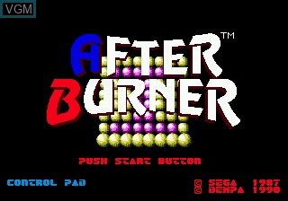 Title screen of the game After Burner II on Sega Megadrive