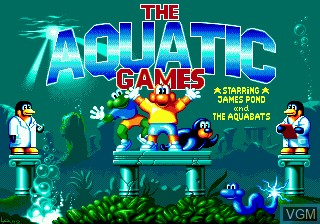 Title screen of the game Aquatic Games - Starring James Pond, The on Sega Megadrive