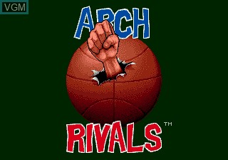 Title screen of the game Arch Rivals on Sega Megadrive