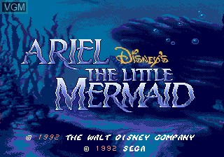Title screen of the game Ariel - The Little Mermaid on Sega Megadrive