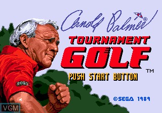 Title screen of the game Arnold Palmer Tournament Golf on Sega Megadrive