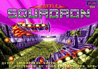 Title screen of the game Battle Squadron on Sega Megadrive